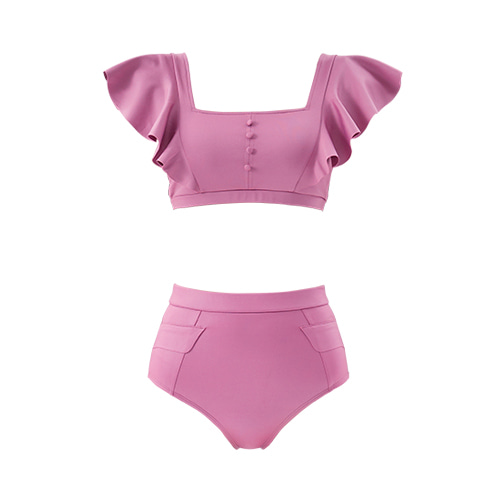 QUA VINO - [현재분류명] - Jelly Candy + High-waisted Pocket Bottom Reddish